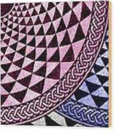 Mosaic Quarter Circle Bottom Right  Wood Print