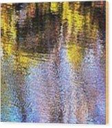 Mosaic Reflection At The River Wood Print