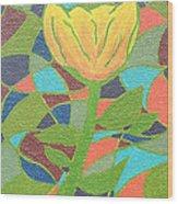 Mosaic Rose Wood Print