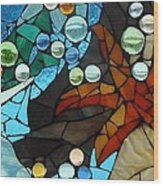 Mosaic Stained Glass - Low Tide Wood Print