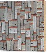 Mosaic Village 3 Wood Print
