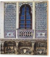 Mosaic Windows Wood Print by Catherine Arnas