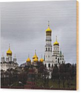 Moscow Kremlin Cathedrals - Square Wood Print