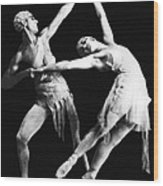 Moscow Opera Ballet Dancers Wood Print