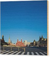 Moscow Red Square From South-east To North-west - Square Wood Print