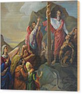 Moses And The Brazen Serpent - Biblical Stories Wood Print