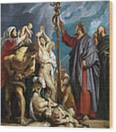 Moses And The Brazen Serpent Wood Print