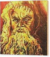 Moses At The Burning Bush Wood Print