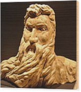 Moses Michelangelo  Wood Print by Joseph Hawkins