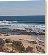 Moses Rock Beach 01 Wood Print