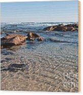 Moses Rock Beach 04 Wood Print