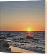 Moshup Beach Sunrise Wood Print