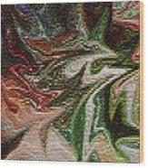 Mosiac Leaves Wood Print