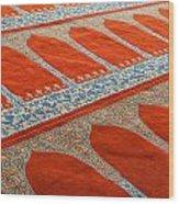 Mosque Carpet Wood Print