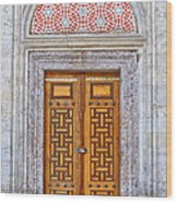 Mosque Doors 04 Wood Print