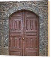 Mosque Doors 11 Wood Print