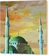 Mosque Jordan Wood Print by Catf