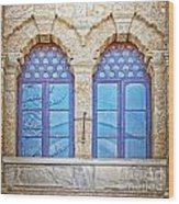 Mosque Windows 3 Wood Print