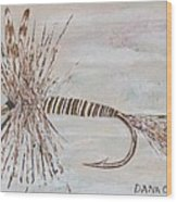 Mosquito Dry Fly Wood Print