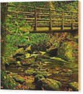 Moss Bridge Wood Print