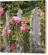 Moss Fence Wood Print