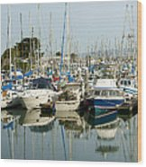 Moss Landing Boat Harbor Wood Print by Artist and Photographer Laura Wrede
