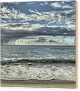 Moss Landing In The Clouds Wood Print