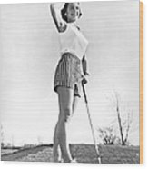 Most Beautiful Golfer Of 1957 Wood Print