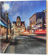 Most Beautiful Small Town In America At Christmas Wood Print