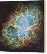 Most Detailed Image Of The Crab Nebula Wood Print