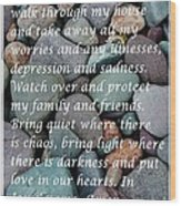 Most Powerful Prayer With Beachrocks Wood Print