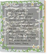 Most Powerful Prayer With Daisies Wood Print