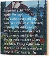 Most Powerful Prayer With Goose Flying And Autumn Scene Wood Print