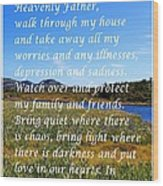Most Powerful Prayer With Irises Wood Print