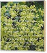 Most Powerful Prayer With Ladies Mantle Wood Print