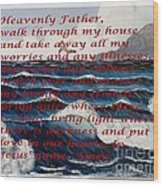 Most Powerful Prayer With Ocean Waves Wood Print