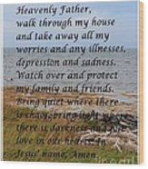 Most Powerful Prayer With Seashore Wood Print