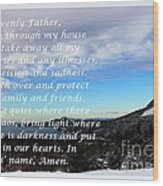 Most Powerful Prayer With Winter Scene Wood Print