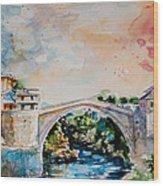Mostar Bridge Wood Print