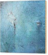 Mostly Blue Wood Print
