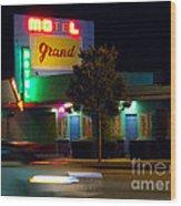 Motel Grand Wood Print
