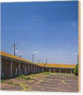 Motel Rooms 2 Wood Print