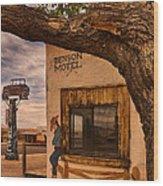 Motel Vacancy Wood Print