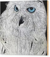 Snow Owl Wood Print