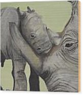 Mother And Baby 1 Wood Print