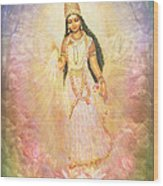 Mother Goddess In Rainbow Colours Wood Print