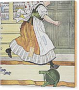 Mother Goose, 1916 Wood Print