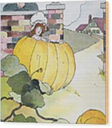 Mother Goose: Pumpkin Wood Print