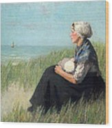 Mother In The Dunes Wood Print