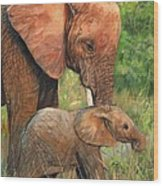 Mother Love 2 Wood Print